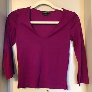 bebe magenta spandex fitted top